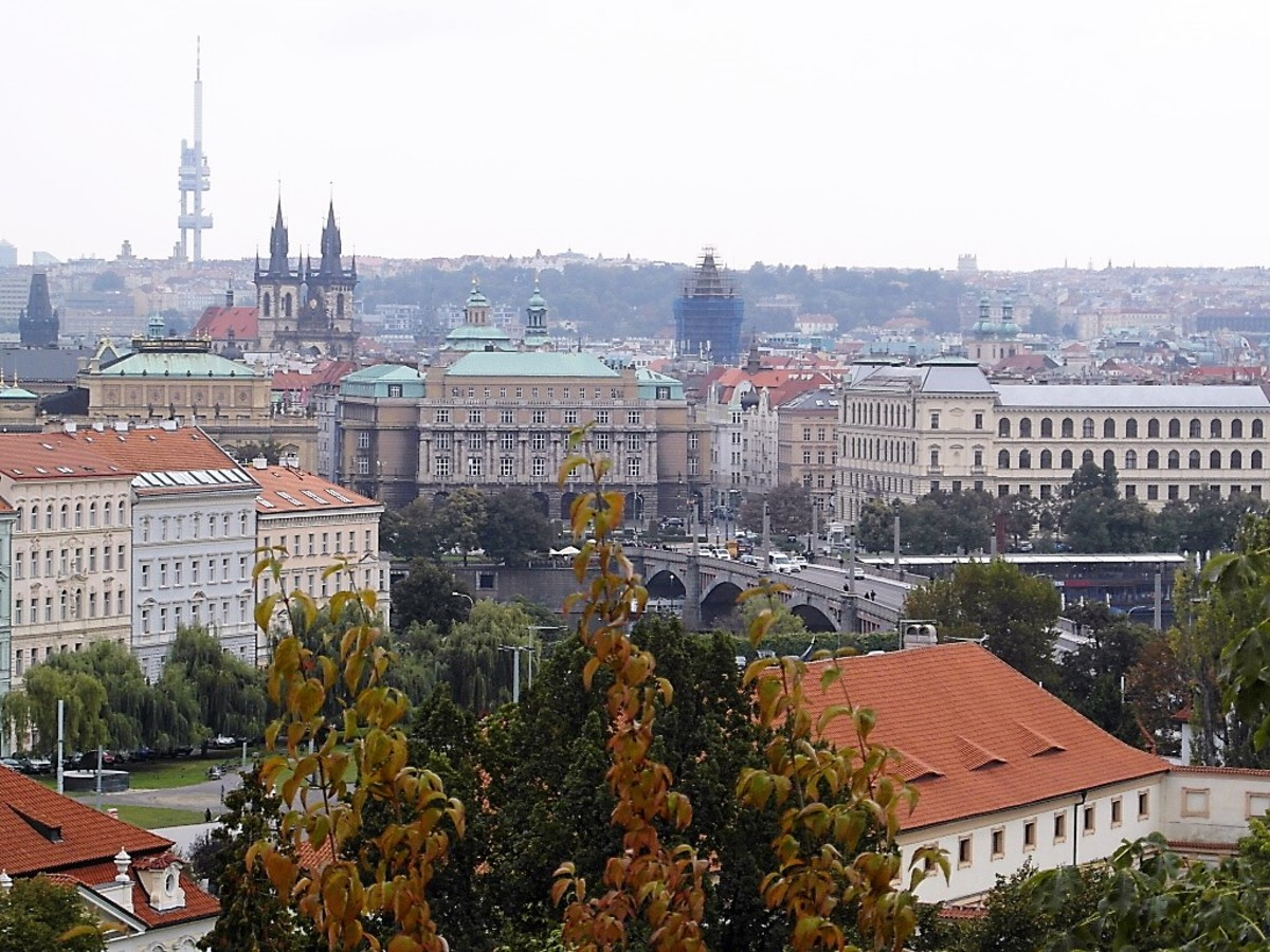 The view towards Prague Old Town.