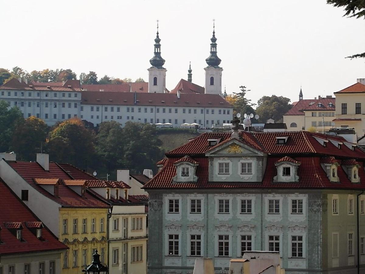 Strahov Monastery above Mala Strana.