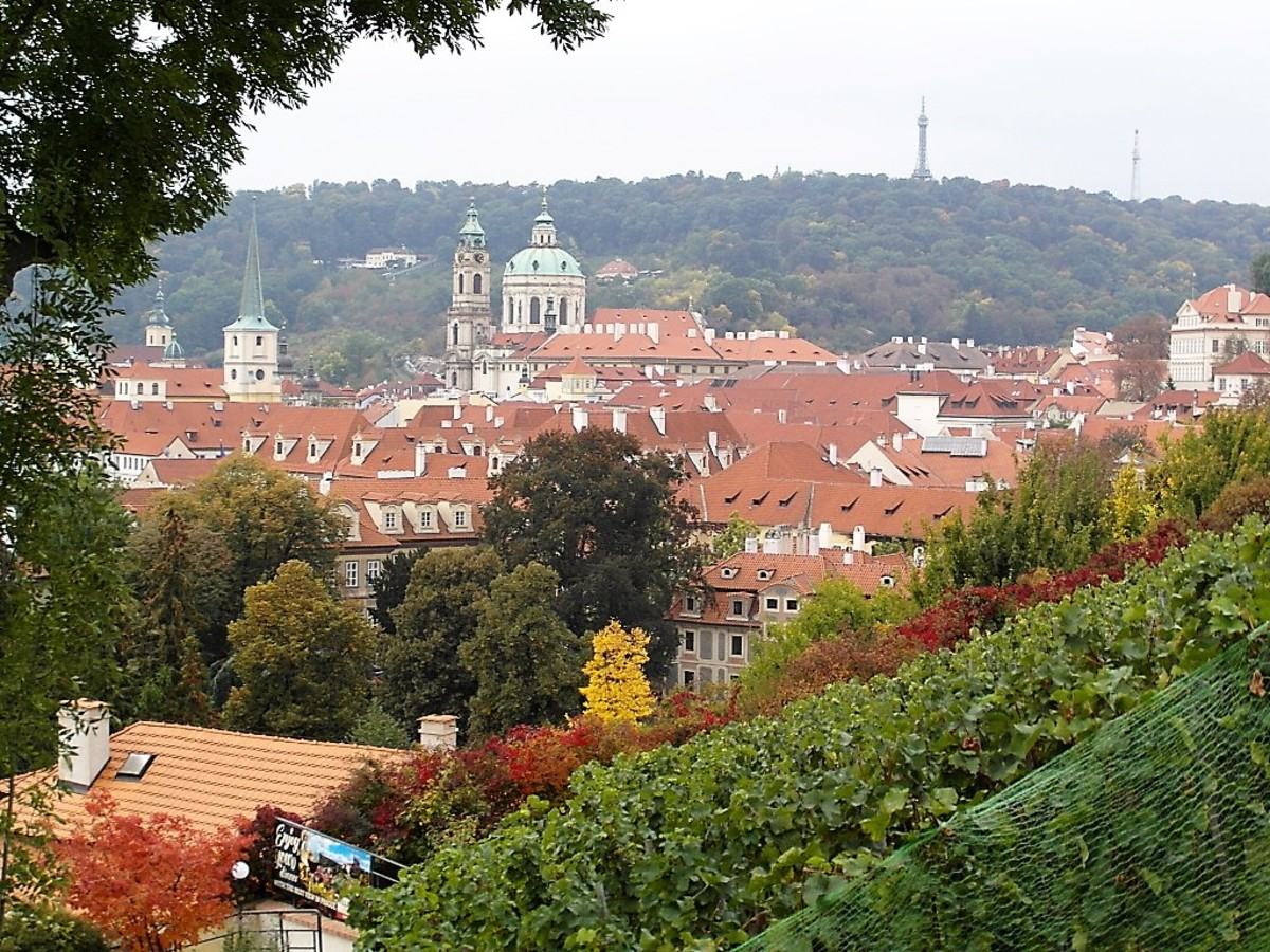 View from Villa Richter to Mala Strana.