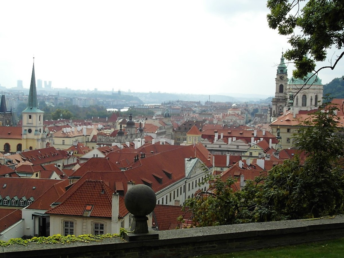 View of Mala Strana from the South Gardens.