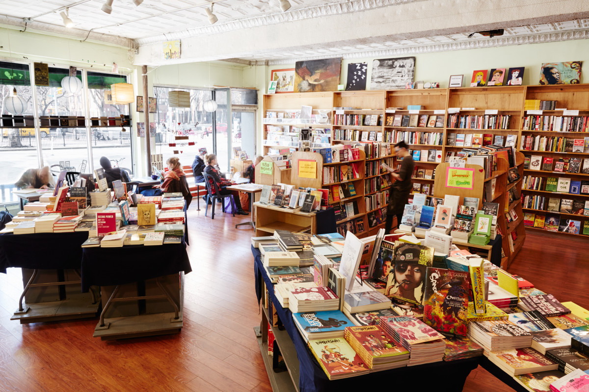 Blue Stockings Bookstore, Cafe, and Activist Center is the perfect place to grab a book and a cup of joe while catching up on current events.