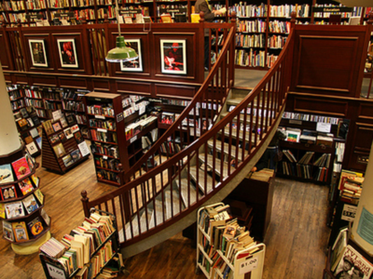"Nothing says ""classic bookstore"" like a winding staircase!"