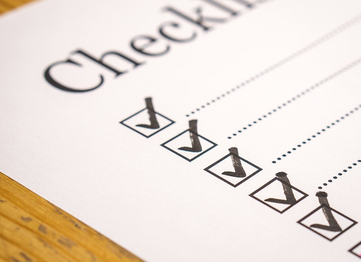 Prepare a checklist of things to bring so that you don't forget any key items at home.