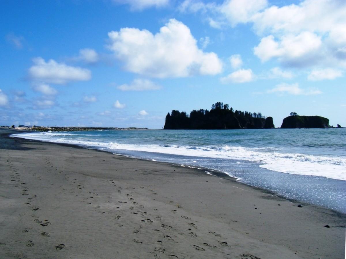 Rialto Beach at Olympic National Park near Seattle, Washington