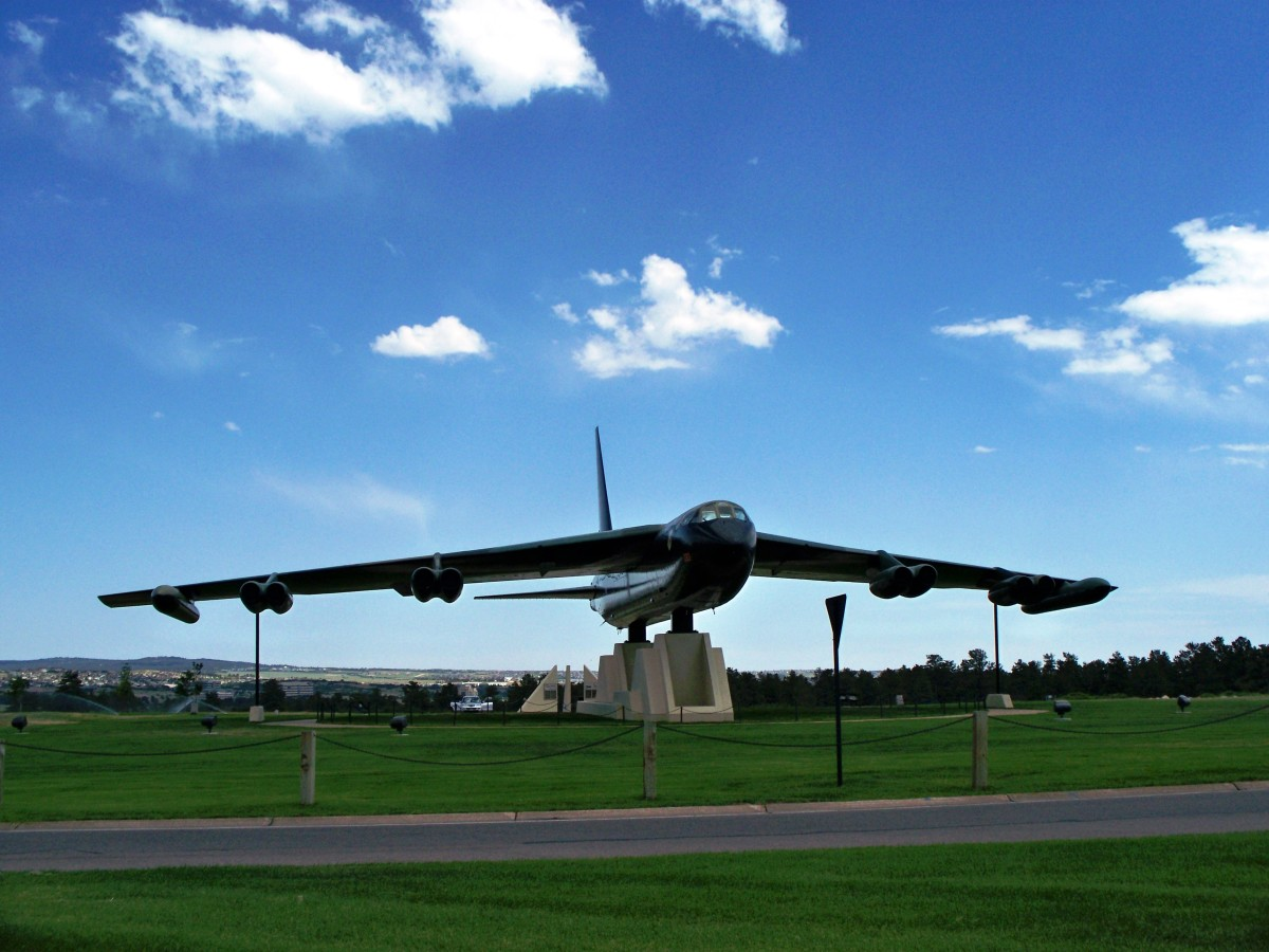 B52 Bomber at US Air Force Academy in Colorado Springs, Colorado