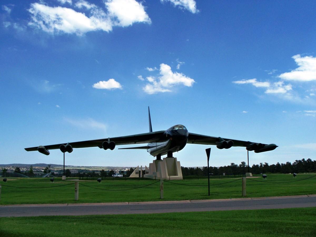 B52 Bomber at US Air Force Academy in Colorado Springs, Colorado