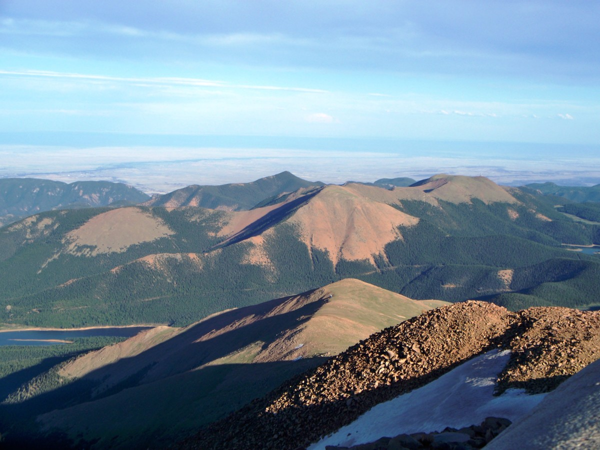 View from the top of Pikes Peak in Colorado Springs, CO