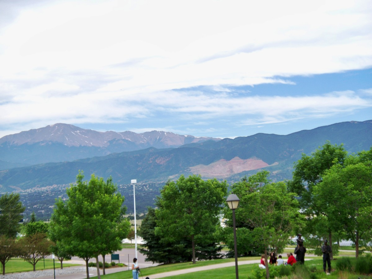 Pikes Peak from the Focus on the Family Visitor Center