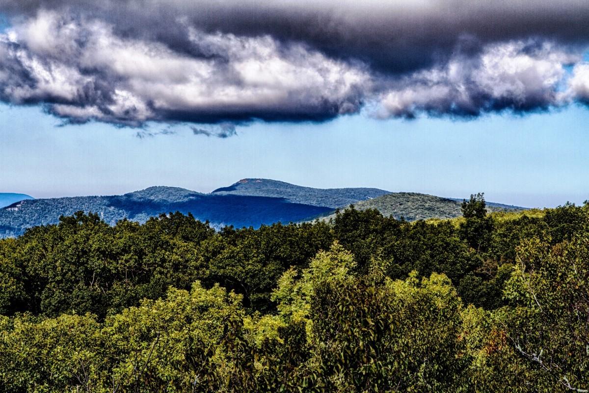Black Rock looking toward Hawksbill Mountain in Shenandoah National Park