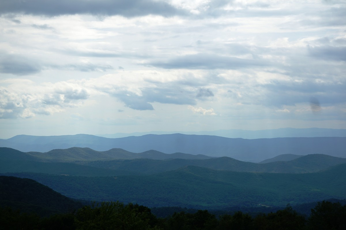 View from Sklyand in Shenandoah National Park