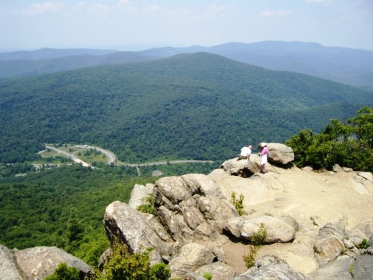 Thorton Gap from Mary's Rock on the Appalachian Trail in Shenandoah National Park