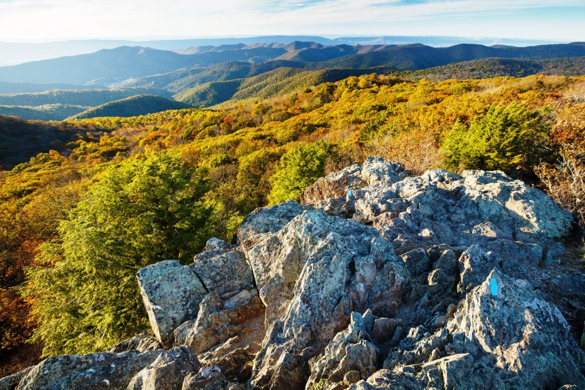 Bearfence Mountain at Golden Hour int Shenandoah National Park