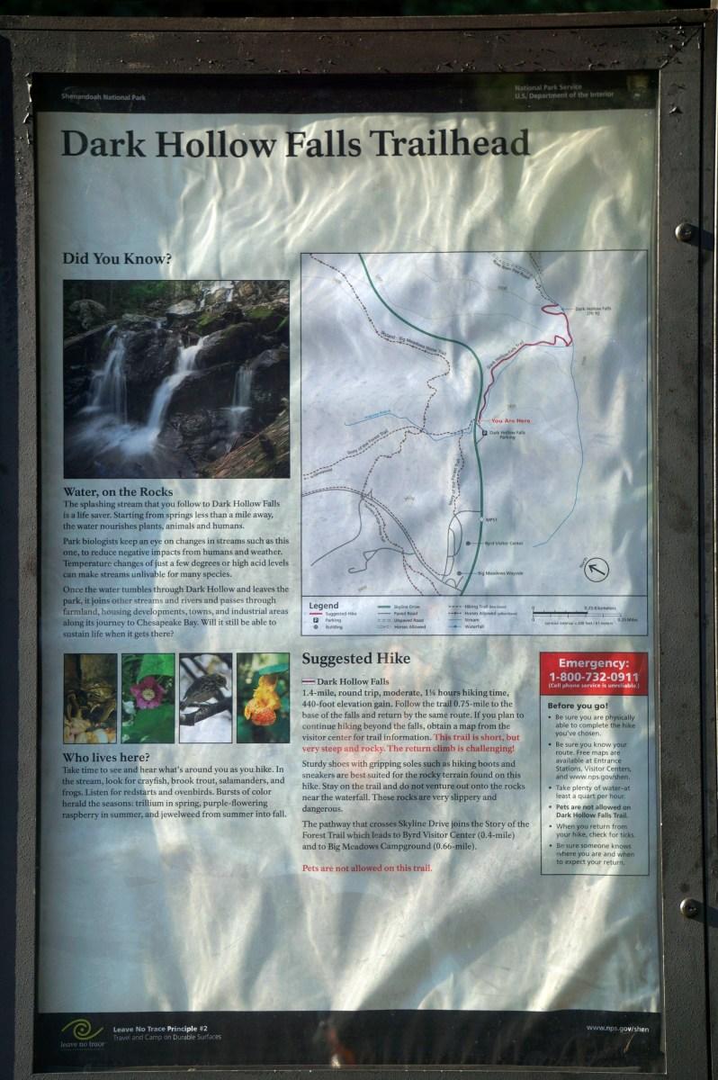 Dark Hollows Falls Trailhead