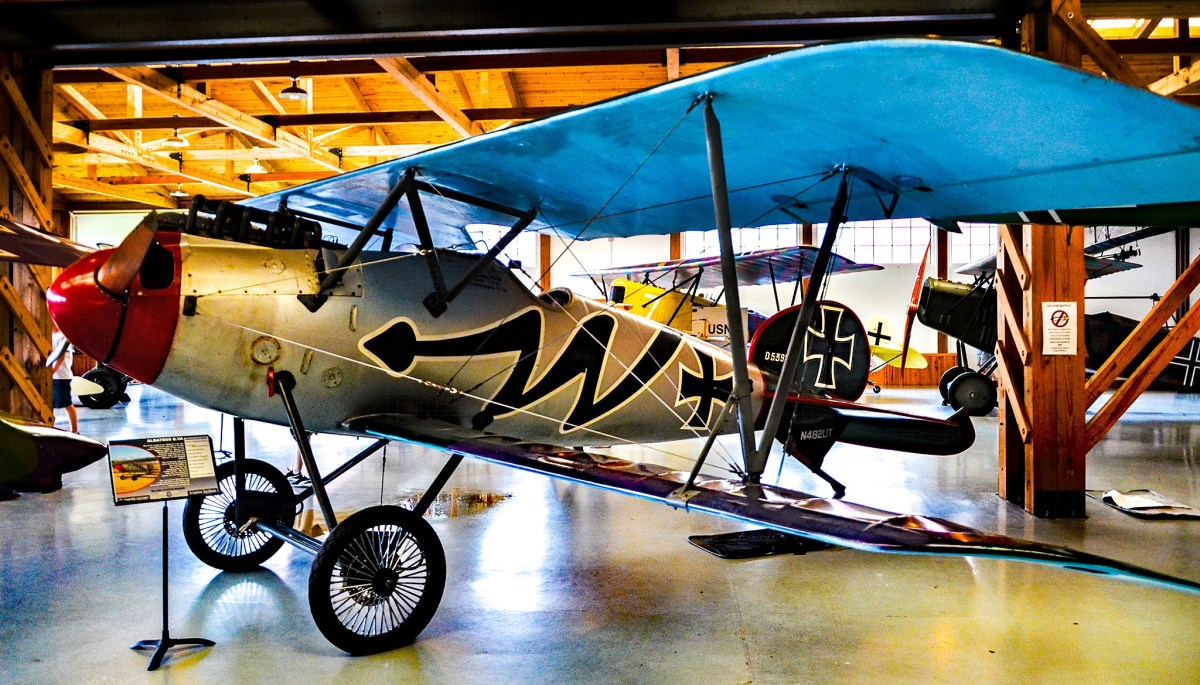 N482UT Williams Flugzeugbau Albatross D.Va C/N 0034 (1978 Replica) at the Military Aviation Museum in Virginia Beach, Virginia