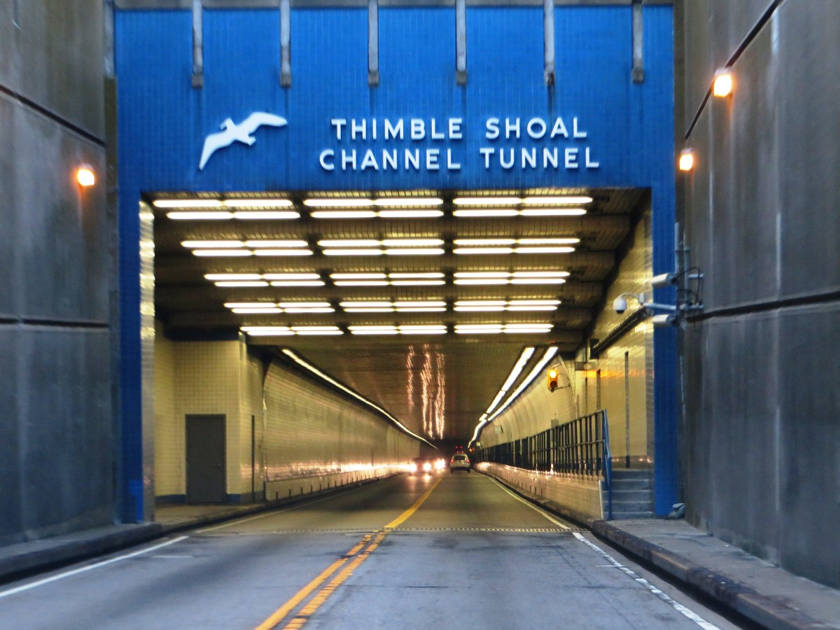 Thimble Shoal Channel Tunnel on the Chesapeake Bay Bridge-Tunnel