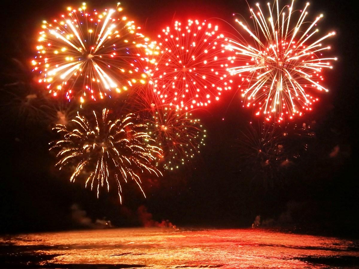 Fireworks at the Virginia Beach Boardwalk and Beachfront