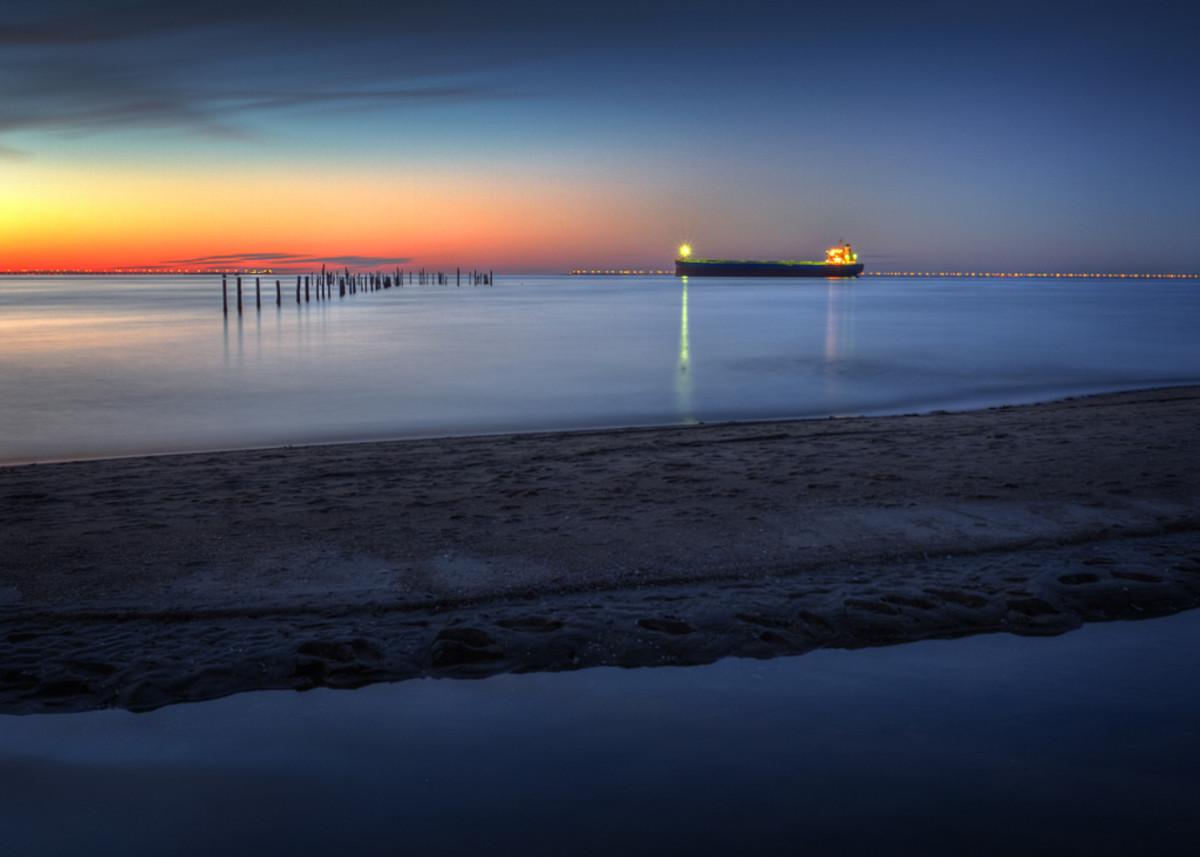 Sunset at First Landing State Park in Virginia Beach, Virginia.