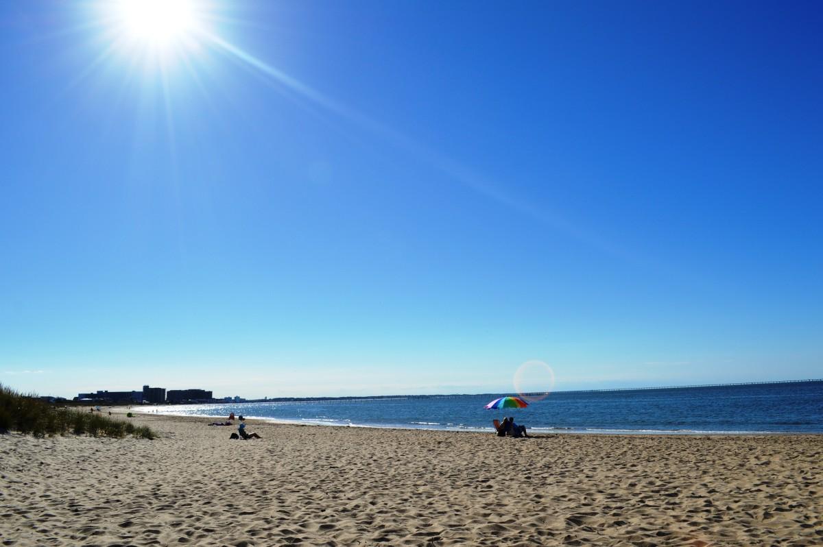 Beach at First Landing State Park in Virginia Beach, Virginia.