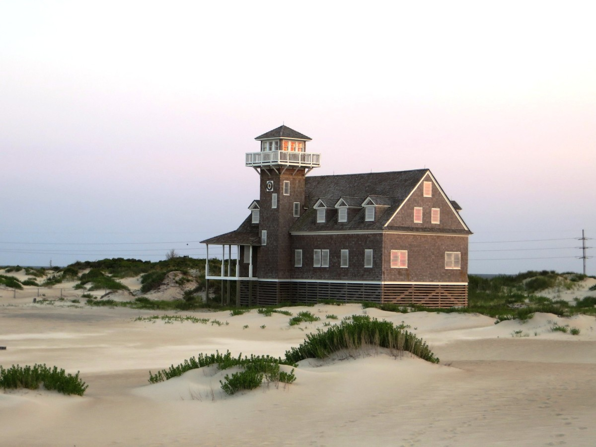 Pea Island Life-Saving Station at Pea Island National Wildlife Refuge on the Outer Banks in North Carolina