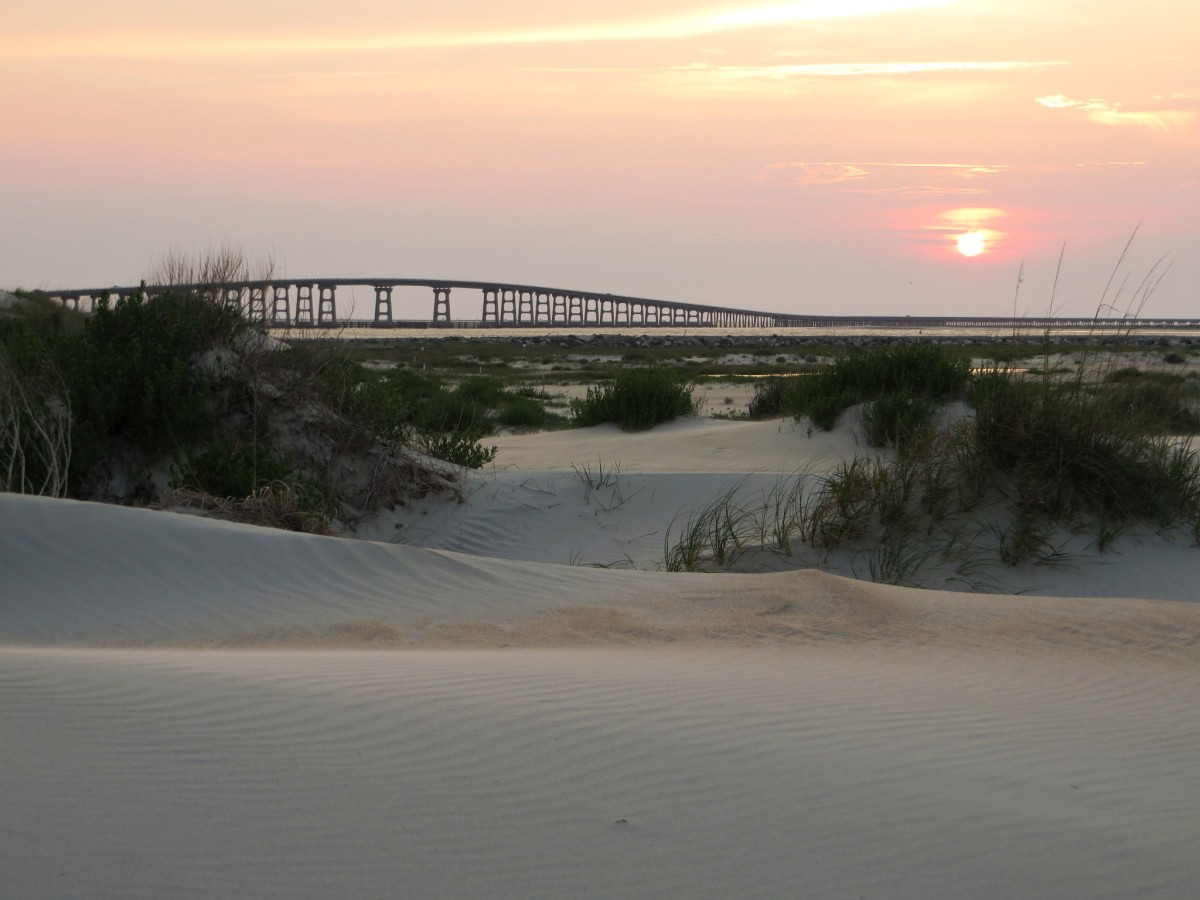 Sand Dunes at Pea Island National Wildlife Refuge on the Outer Banks in North Carolina