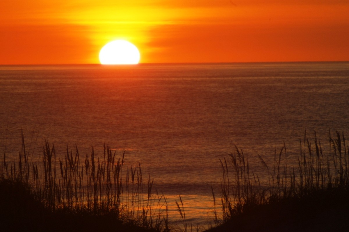 Sunrise at Cape Hatteras on the Outer Banks of North Carolina