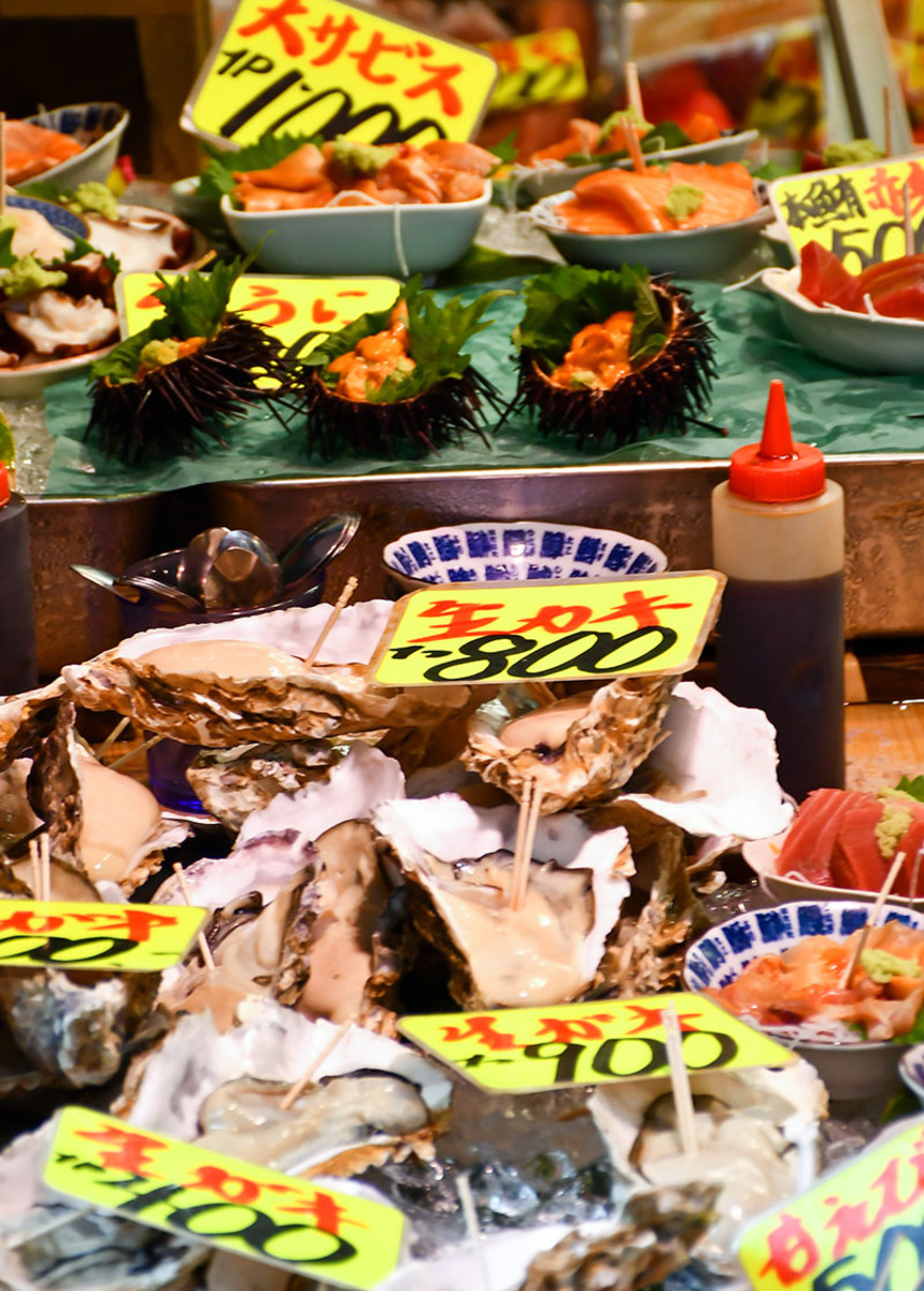Tsukiji Jōgai Shijō is considered by many to be the place to head to for the freshest seafood in Tokyo.