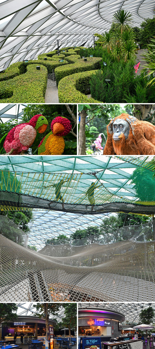 Jewel Changi Airport Canopy Park is home to entertainment both serene and thrilling.