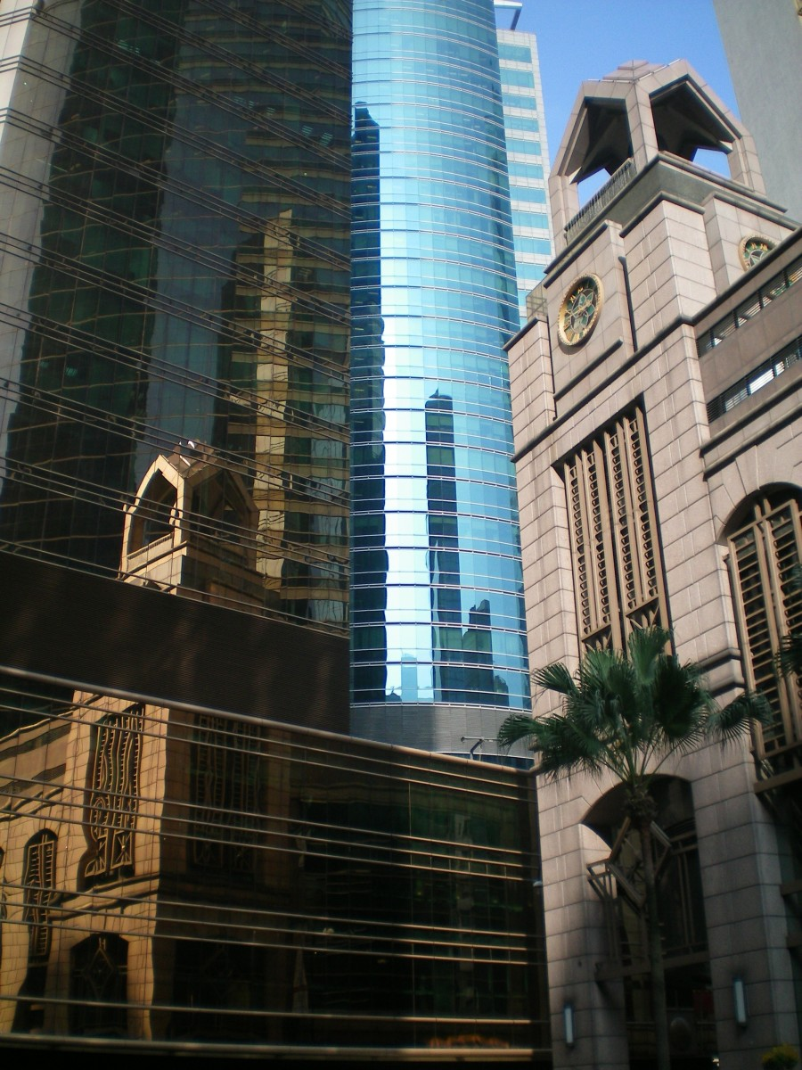 Hong Kong: the old and the new (c) A. Harrison