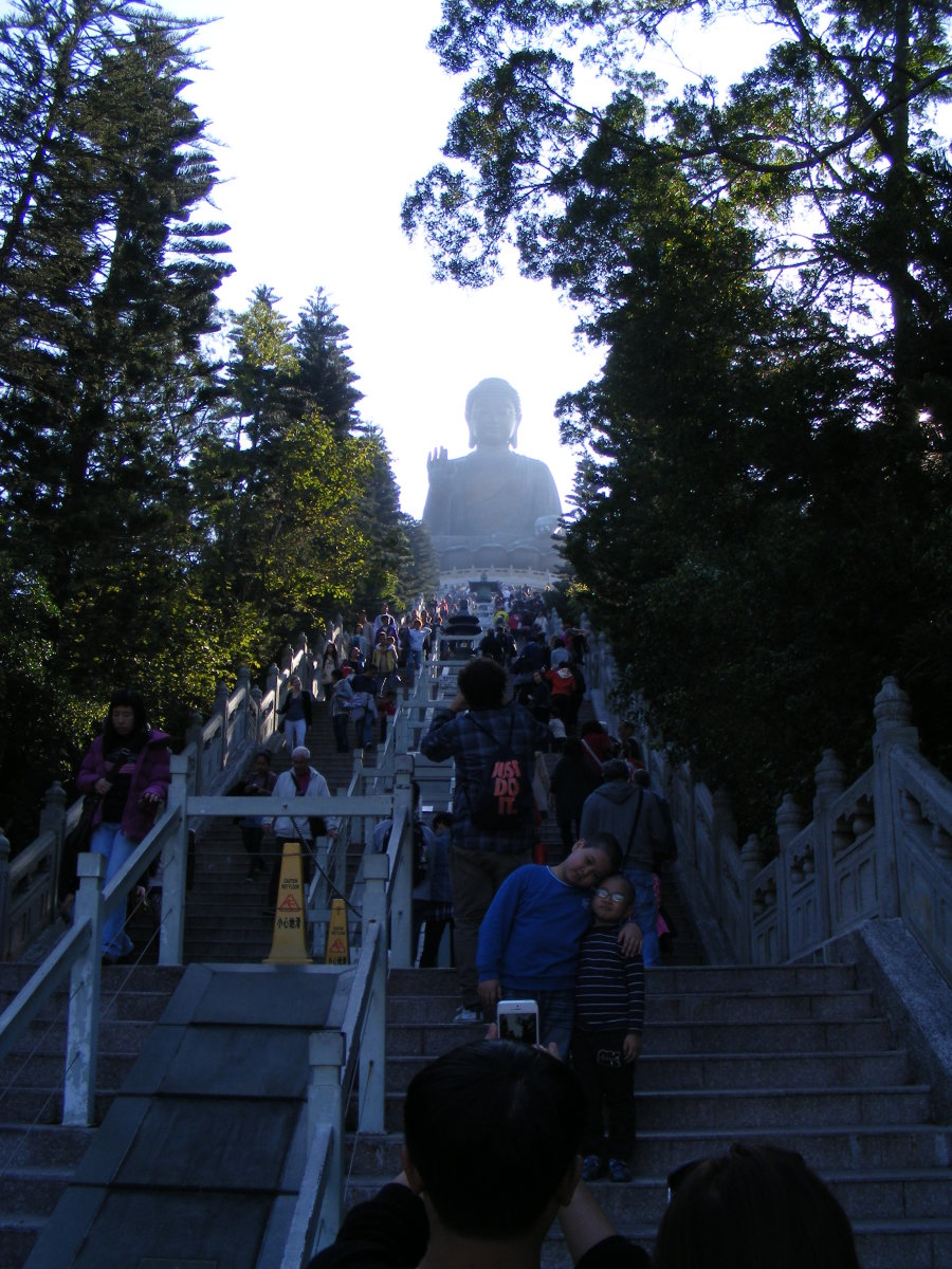 The steps leading to the Big Buddha