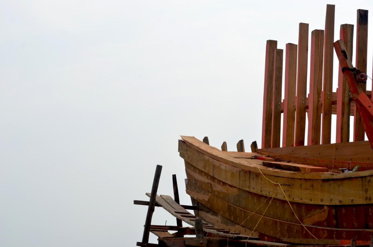 A boat under construction (c) A. Harrison