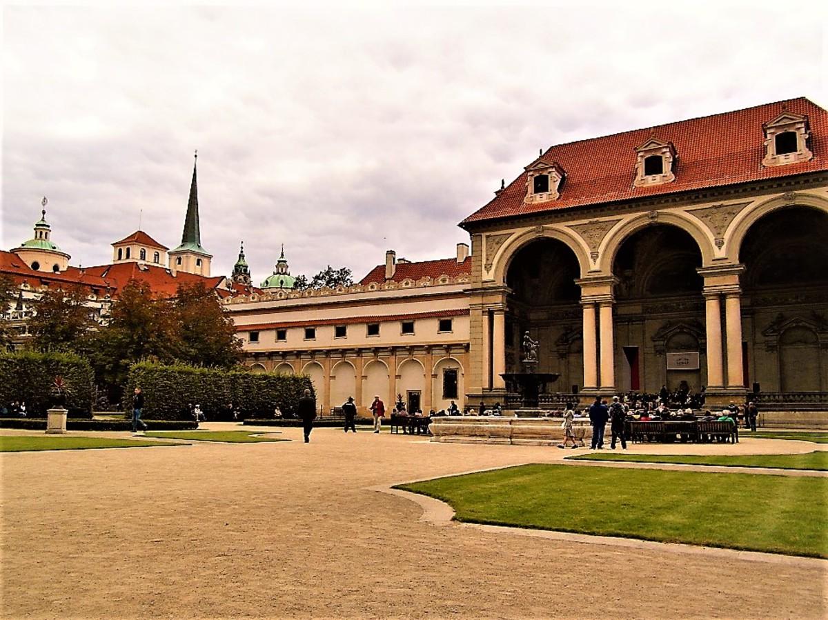 Mala Strana beyond the Wallenstein Palace.