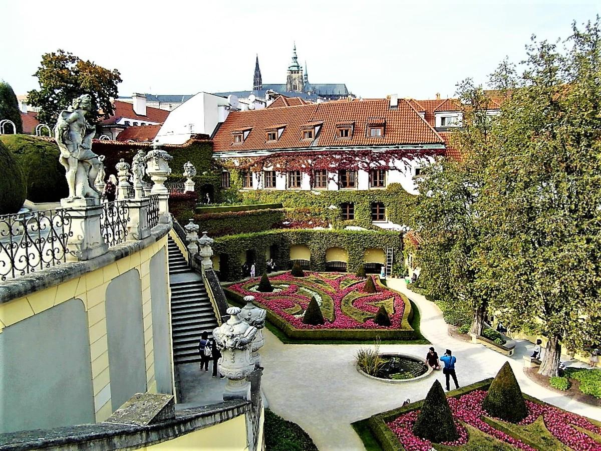 Side view of Vrtba Garden.