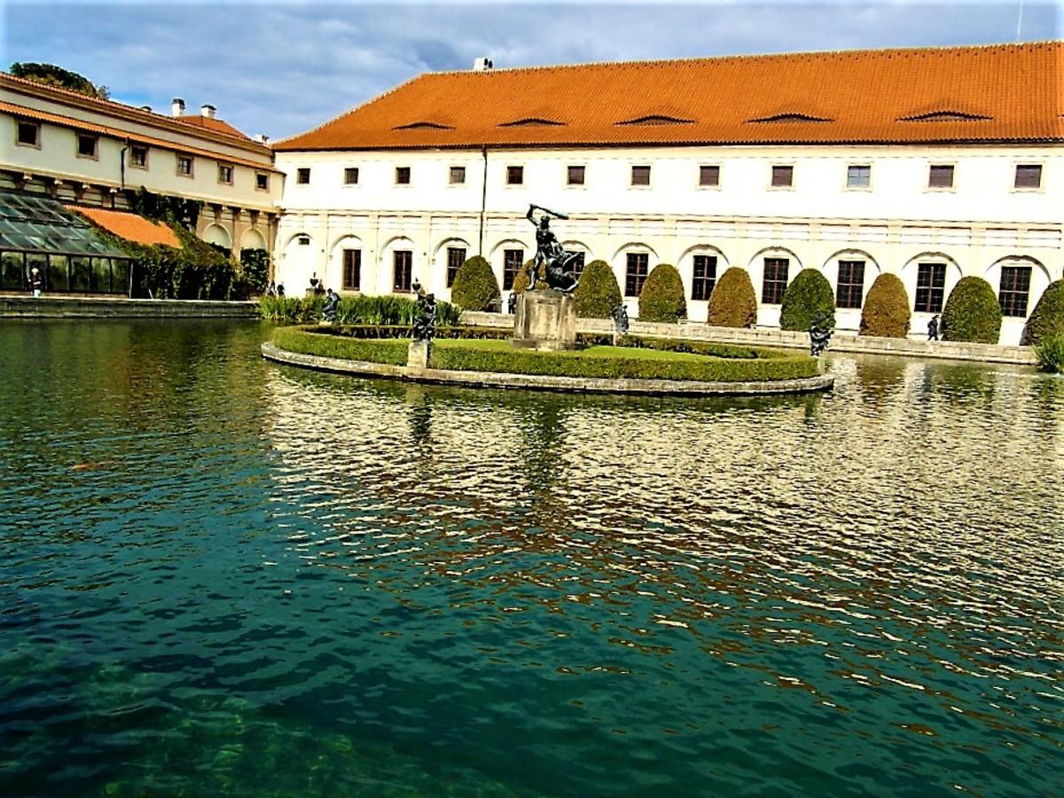 Large ornamental pond.