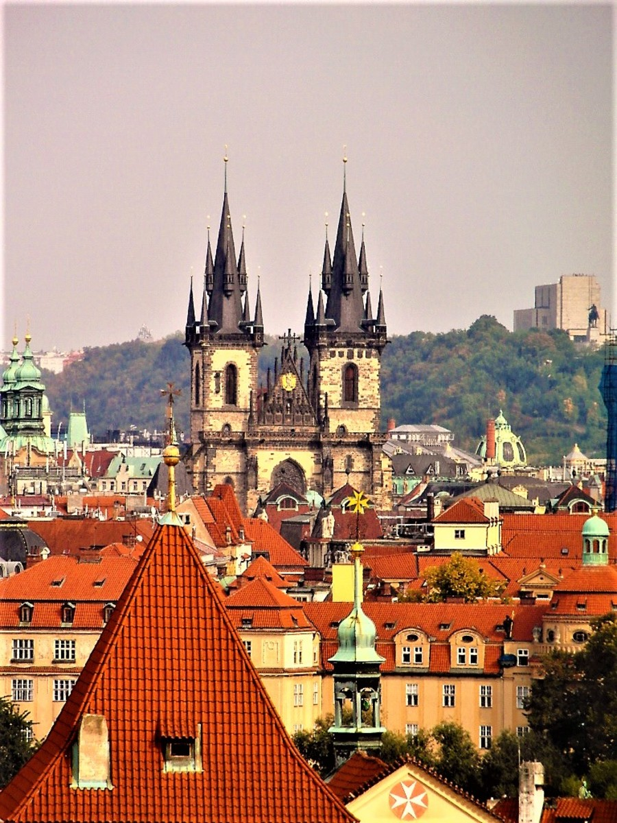 Church of Our Lady before Tyn in Prague Old Town.