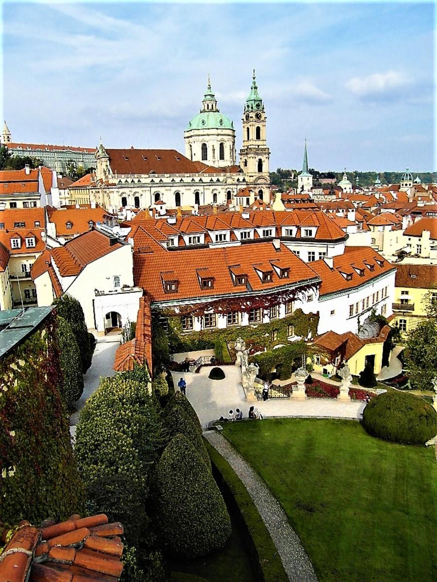 View of Mala Strana from Vrtba Garden.