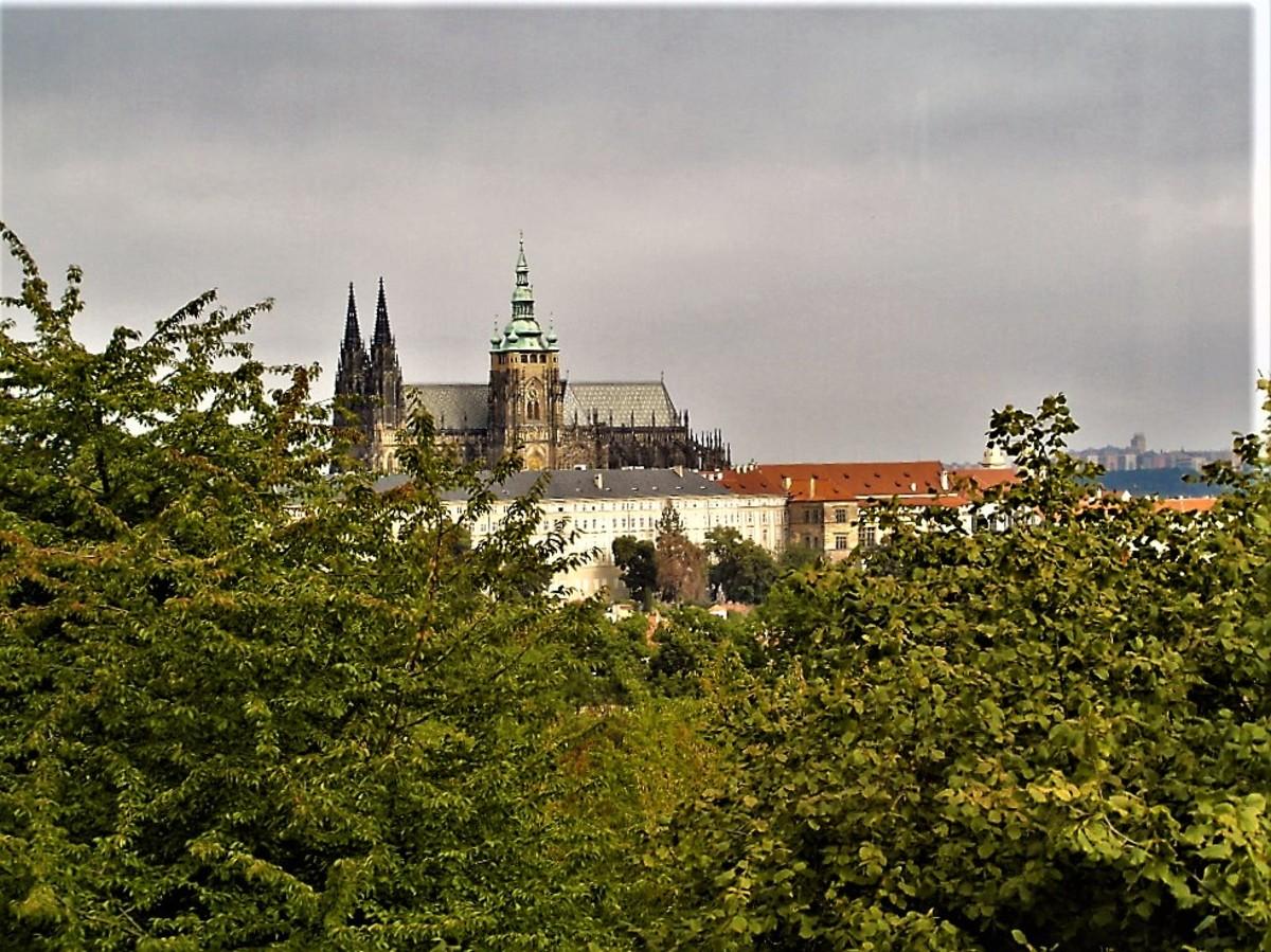 View of Prague Castle.
