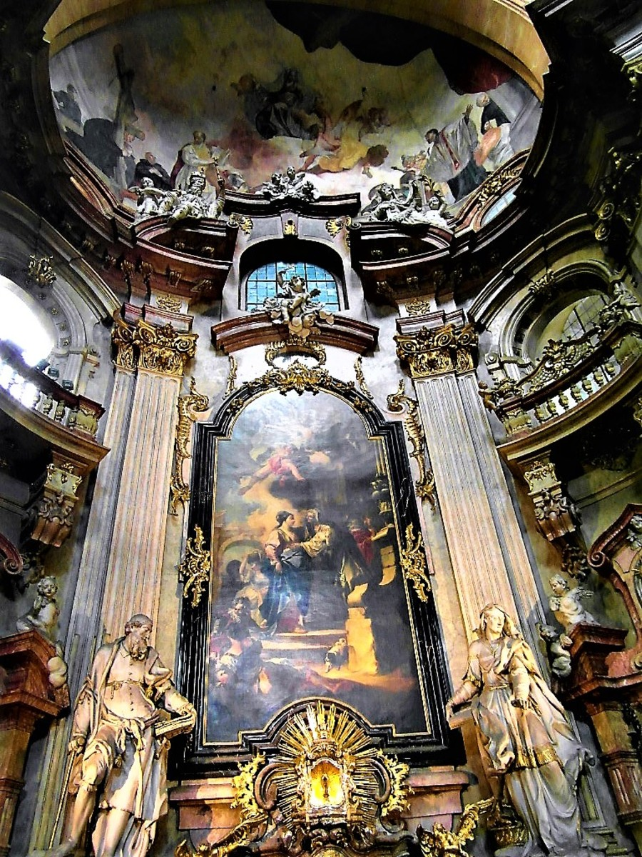 Inside the Church of St. Nicholas.