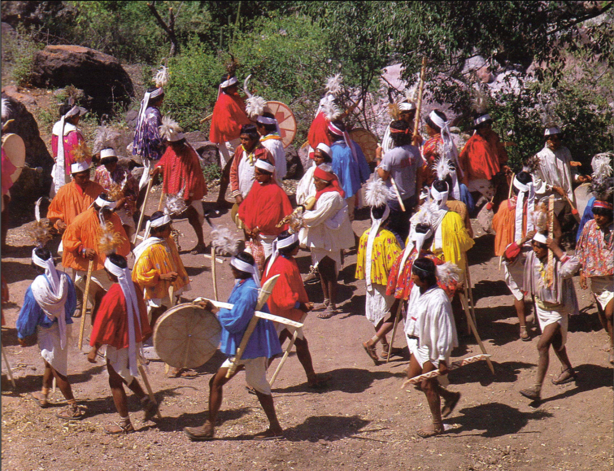 The drumming and dancing will last all day and through the night.