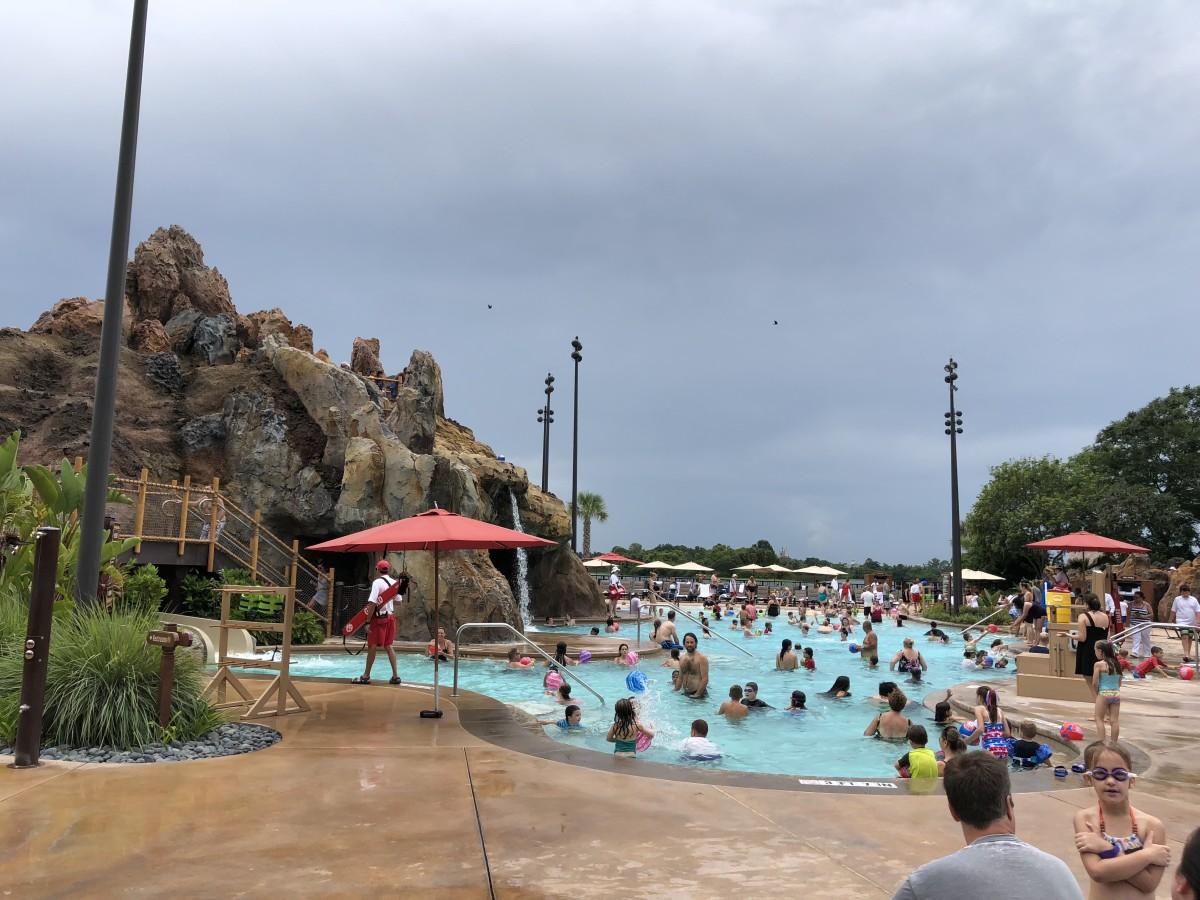 Lava pool at Polynesian Resort