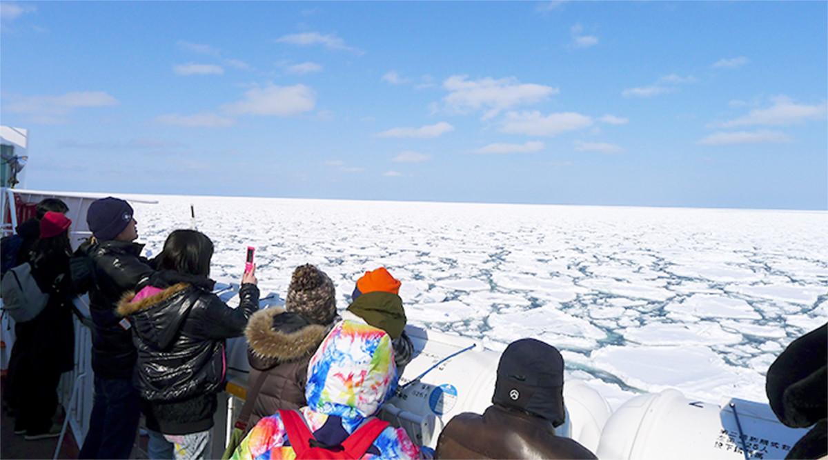 On the Deck of a Shiretoko Icebreaker