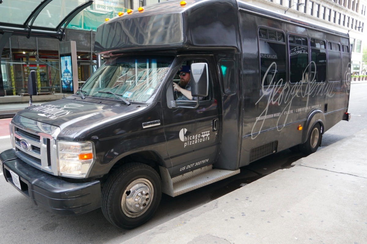 Our Bus on the Chicago Pizza Tour