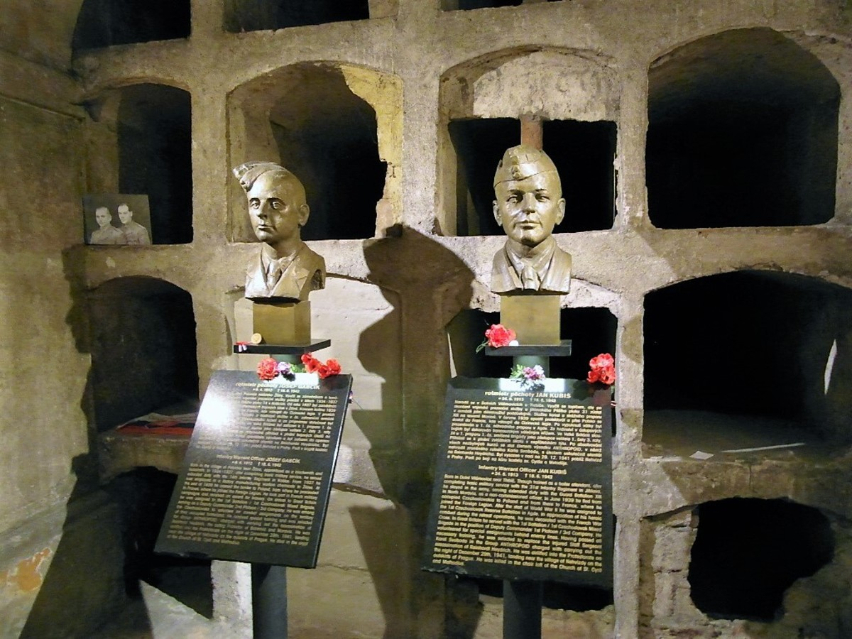 Memorial in the crypt of St. Cyril and St. Methodius Cathedral.