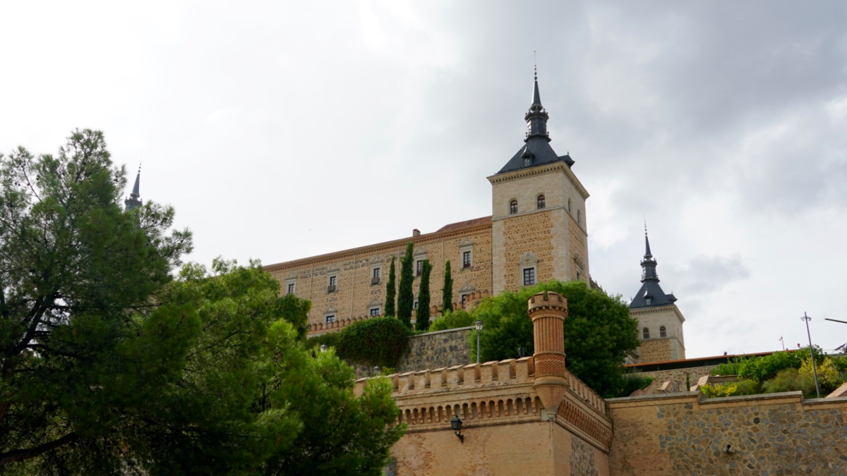 A View of the Alcazar From Below