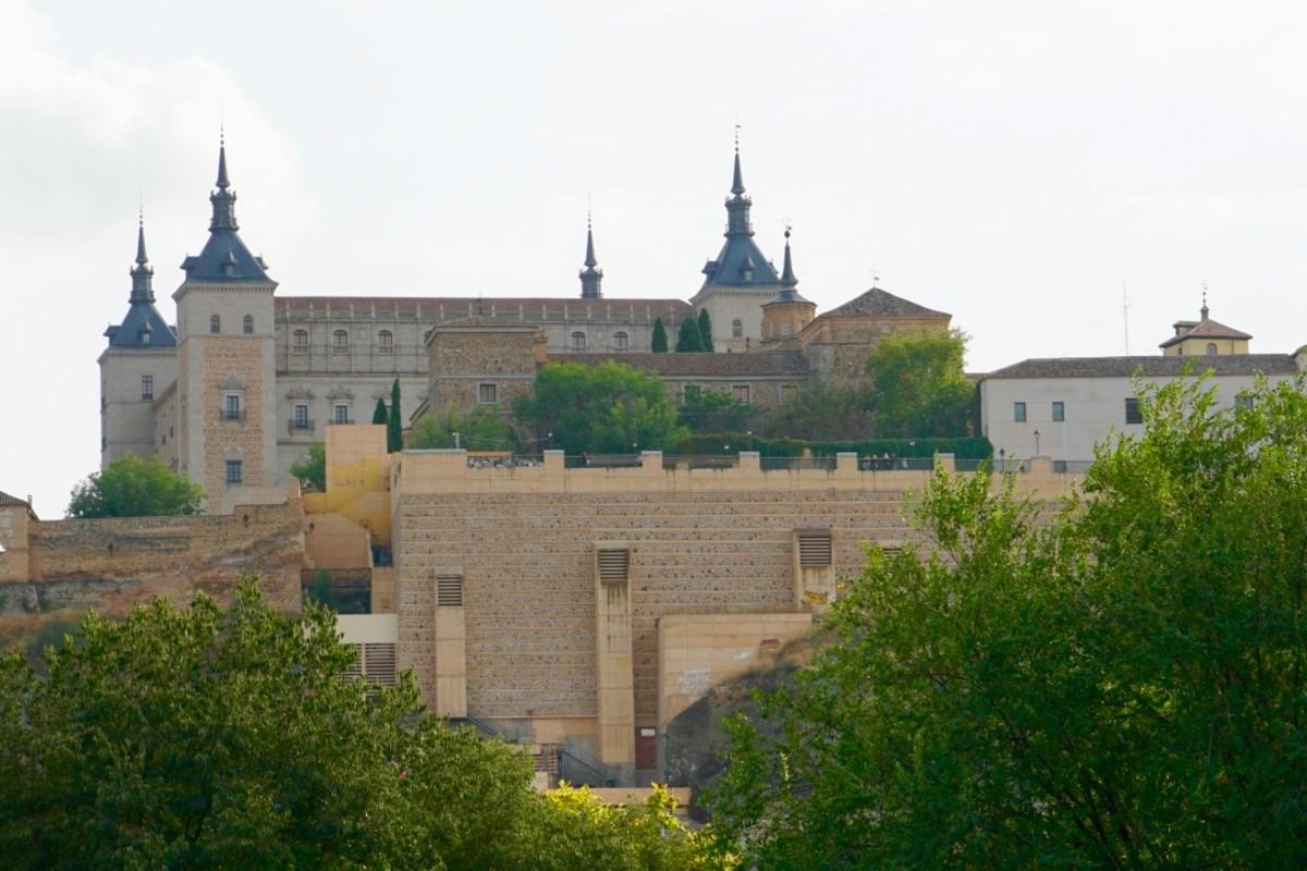 The Alcazar dominates Toledo's skyline.