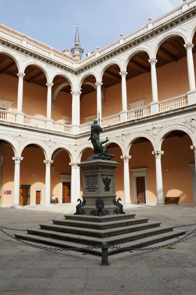 The Inner Courtyard of the Alcazar.
