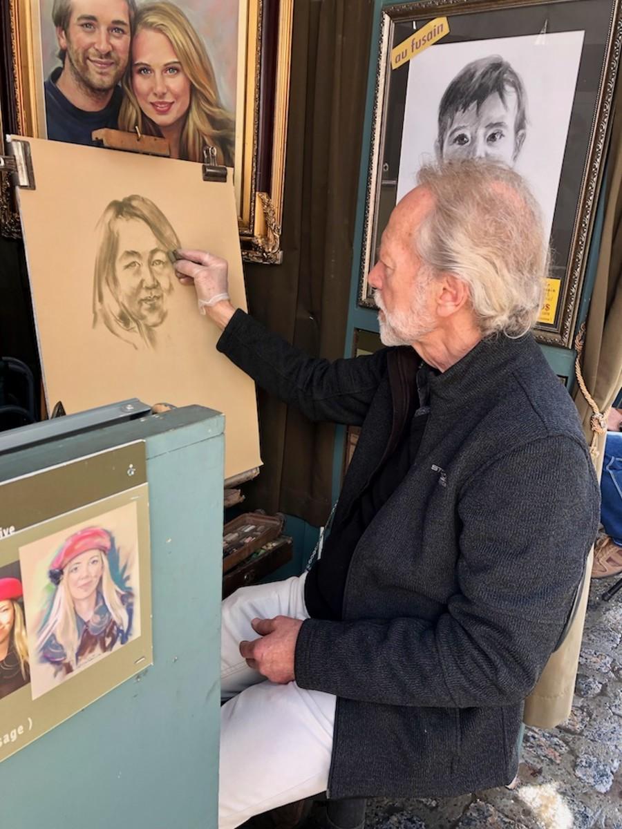 Andre Desjardins Doing My Friend's  Portrait