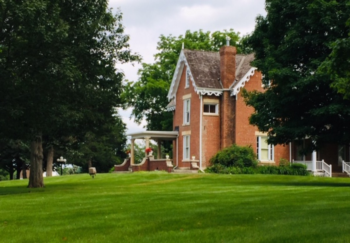 The 1856 Bevington-Kaser Mansion, highlight of the Madison County Historical Complex