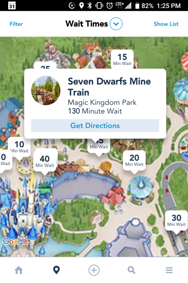 The My Disney Experience App is extremely useful, but requires a lot of battery power to maintain throughout a whole park day.