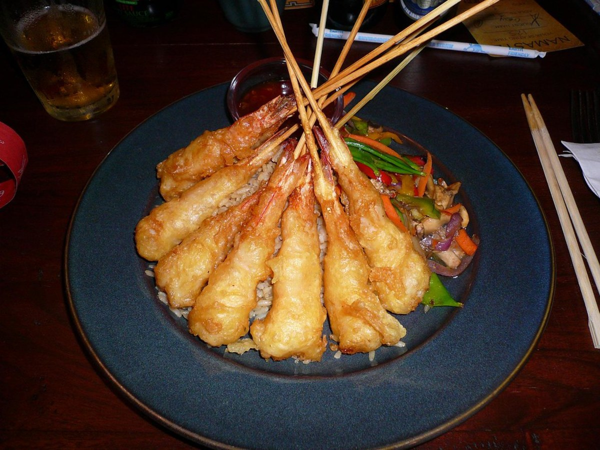 The Shrimp Tempura Yak and Yeti Restaurant is a sample of the cuisine at Animal Kingdom