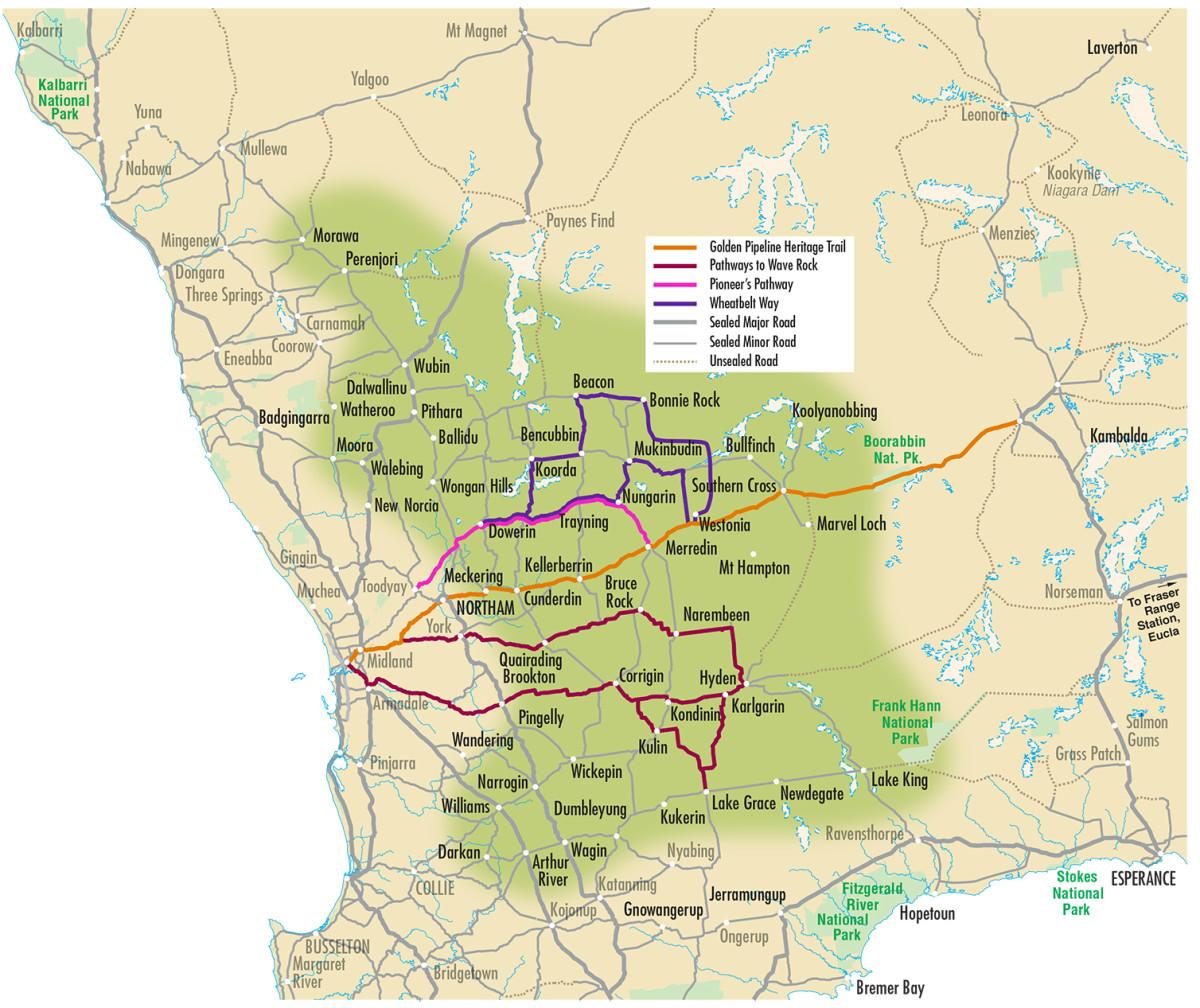 Map of the Western Australian Wheatbelt
